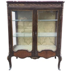 Rare Antique  French Inlaid  Shop Display Case, Haberdashery