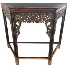 Carved and Distressed Sarreid Console