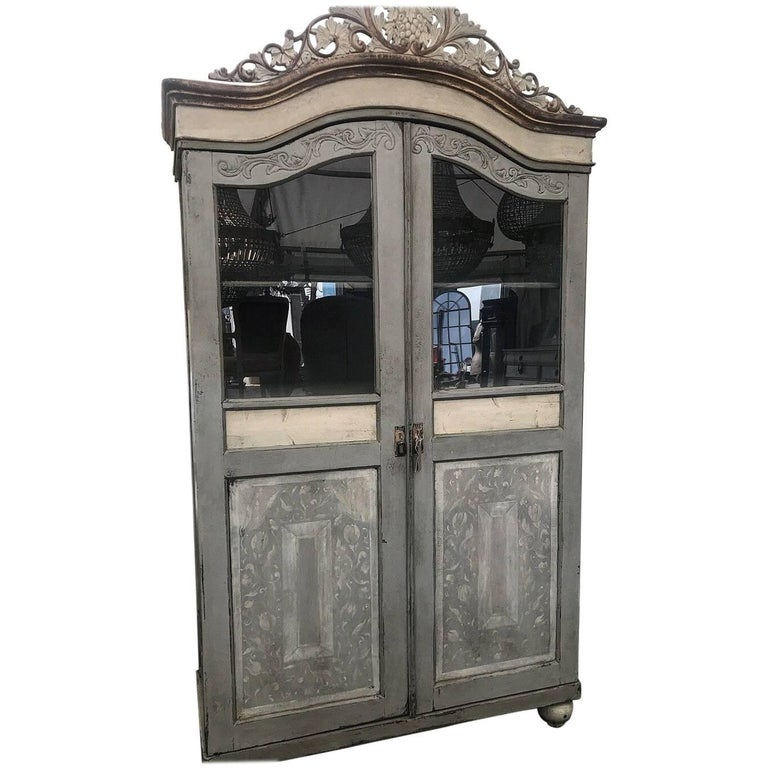 Rare Stunning Antique French/Italian Armoire, Painted, Original