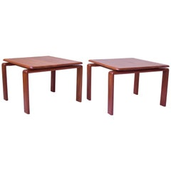 Vintage Pair of Danish Modern Side Tables in Teak, Denmark, 1970s