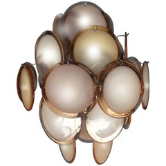 Disc Chandelier by Vistosi, Murano, 1970s