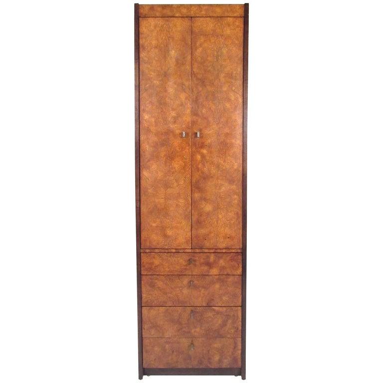 Burl Wood Linen Cabinet by Century Furniture
