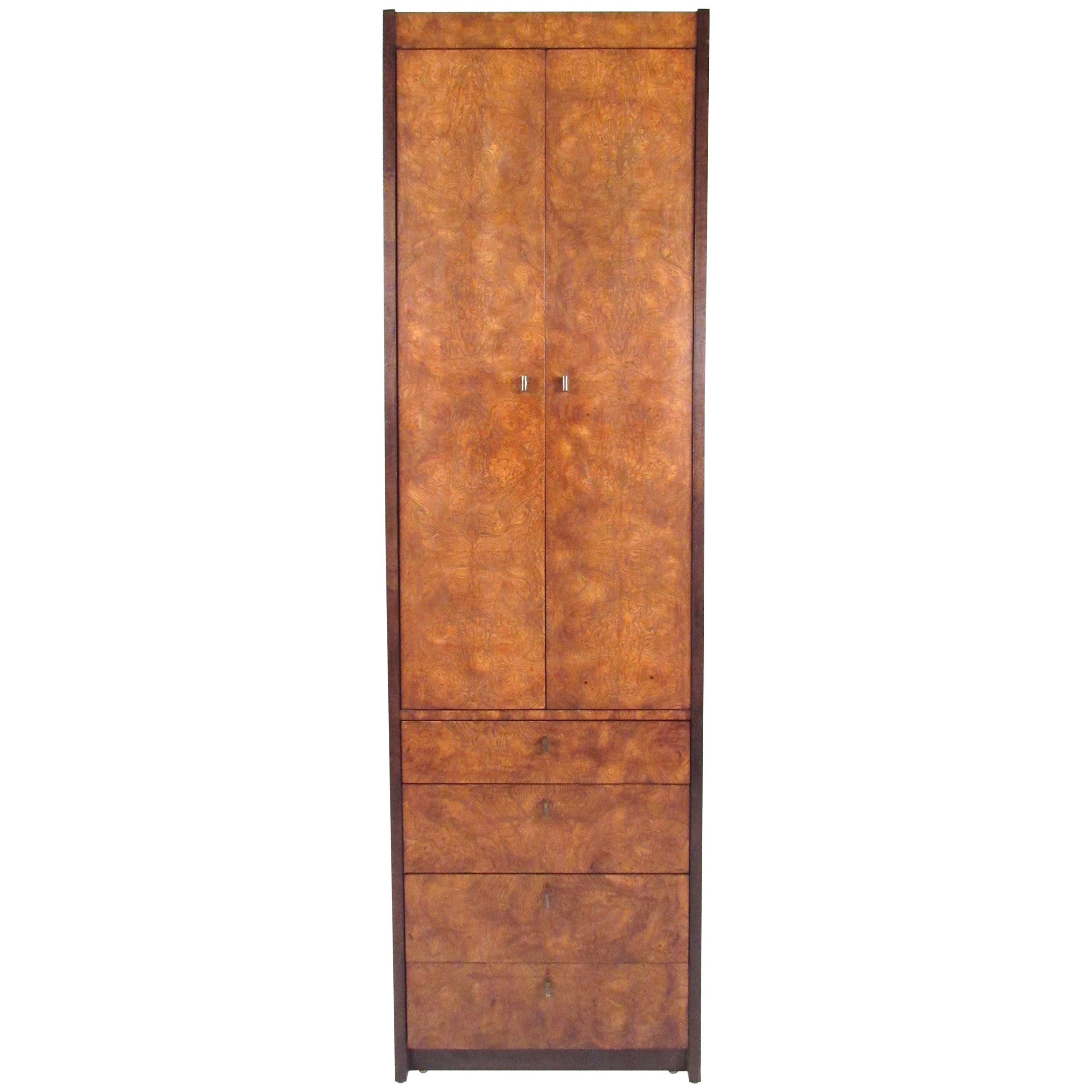 Burl wood linen cabinet by century furniture for sale at 1stdibs