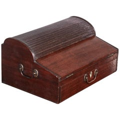 George III Mahogany Tambour Top Writing box