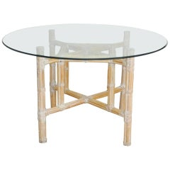 Organic Modern Bamboo Rattan Dining Table by McGuire
