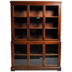 Handsome British Colonial Breakfront Bookcase