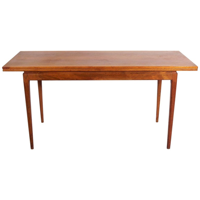 Jens Risom Console Table Opens to Dining Table