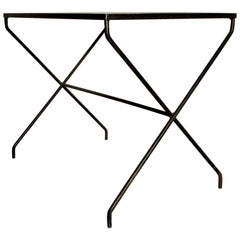 Modernist X Base Iron Table