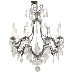 Louis XV Style Silvered-Metal Chandelier