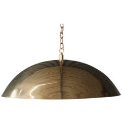 Brass-Plated Pendant Light