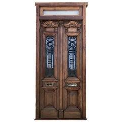 Antique Spanish Colonial Solid Teak Doors