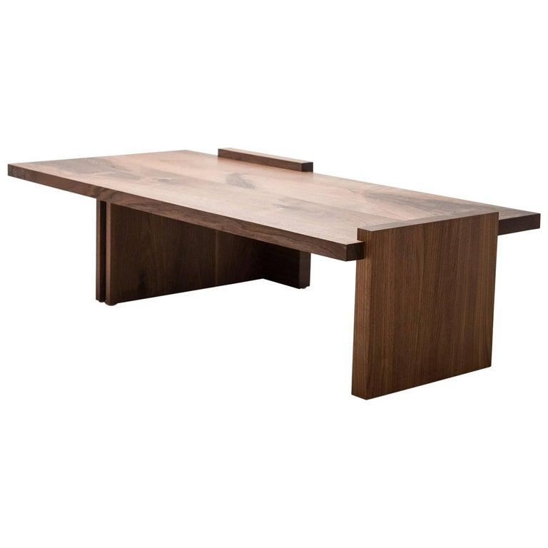 Low Coffee Table in Walnut