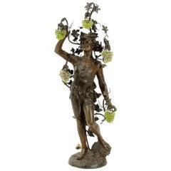 "Huge Metal Sculpture Standing Lamp of ""Dionysus"""