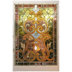 Framed Stain Glass Panel