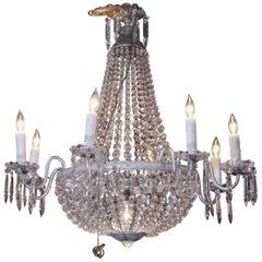 Empire Sac-de-Pearl Continental Nine-Light Chandelier