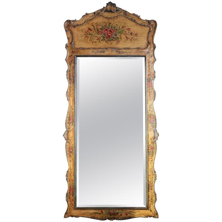 Venetian Hand-Painted Full Length Mirror