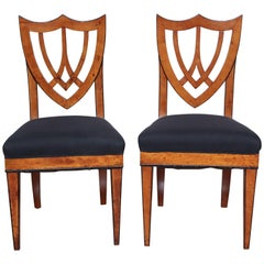 Pair of Viennese Side Chairs, circa 1830
