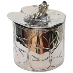 Vintage Silver Plate Frog Ice Bucket