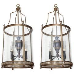 Pair of English Hall Lanterns