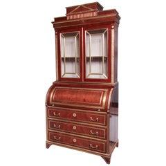 Fine Russian Neoclassic Secretary Bookcase