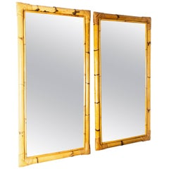 Rectangular Bamboo Surround Mirror