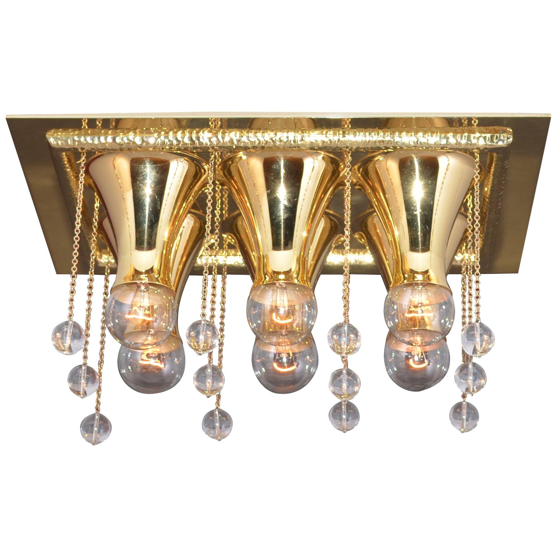 Josef Hoffmann Ceiling Lamp Wiener Werkstaette  for Karl Wittgenstein Re-Edition