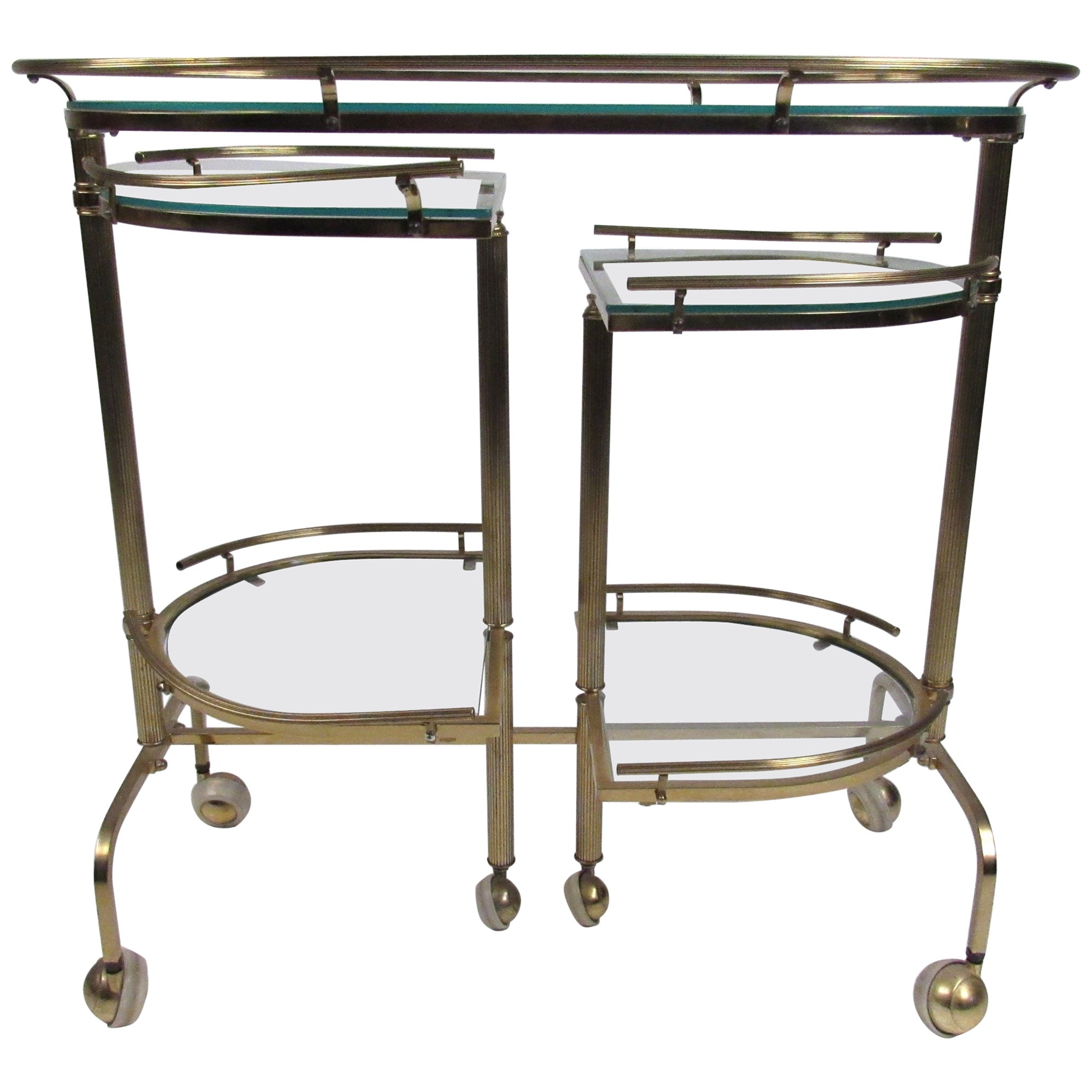 Vintage Three-Tier Brass Service/Bar Cart