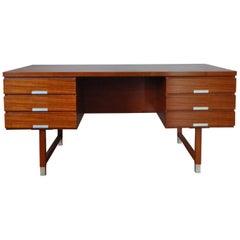 Kai Kristiansen Free Standing Teak Desk Model EP 401 for Feldballes Møbelfabrik