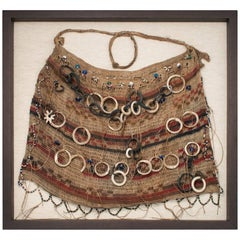 Early 20th Century Tribal Woven Bag with Shell Rings, Humbodlt Bay, West Papua