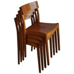 Portex Stackable Chairs Designed by Peter Hvidt & Orla Mølgaard-Nielsen