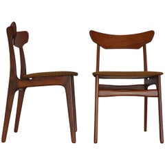 Teak Dining Chairs by Schiønning & Elgaard, Set of Two