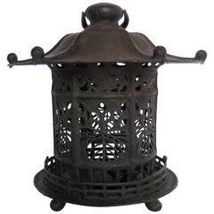Large Edo Period Bronze Lantern