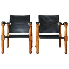 Pair of 1940s Safari Chairs