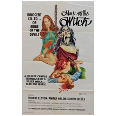 """Mark of the Witch"" 1970 Original Horror Movie Poster"