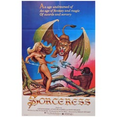 """Sorceress"" 1982 Original Movie Poster Fantasy Magic Swords and Sorcery"
