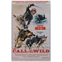 "Charlton Heston in ""Call of the Wild"" 1972 Original Movie Poster"
