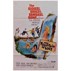 """The Fountain of Love"" 1968 Original Movie Poster"