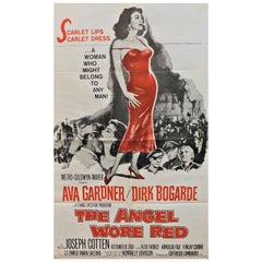 "Ava Gardner Stars in ""The Angel Wore Red"" 1960 Original Movie Poster"