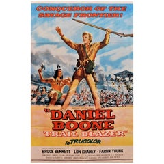 "Bruce Bennett Stars in ""Daniel Boone Trail Blazer"" 1956 Original Movie Poster"
