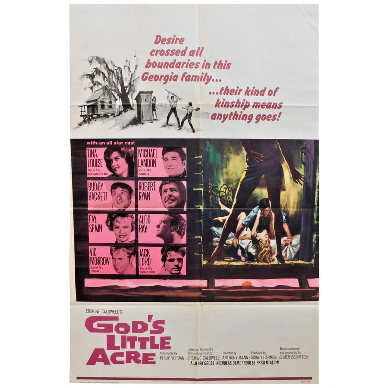 "Tina Louis Stars in ""God's Little Acre"" 1967 Vintage Movie Poster"