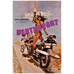 "David Carridine in ""Deathsport"" 1978 Original Movie Poster"