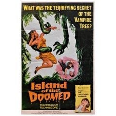 """Island of the Doomed"" 1966 Original Horror B-Movie Poster"
