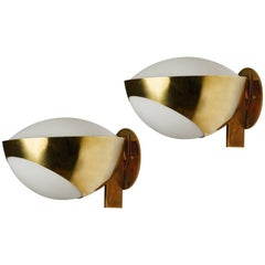 "Pair of Model ""1963 A"" Sconces by Max Ingrand for Fontana Arte"