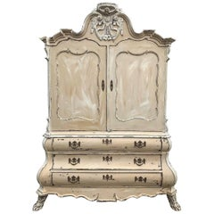 Rare 18th Century French Antique Armoire, Linen Press, Country, Rustic Vintage
