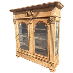 Super Rare 18th Century French Antique Armoire Cupboard Country Display Vintage