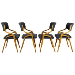 Czech Bent Plywood Chairs from Holesov, 1970s, Set of Four
