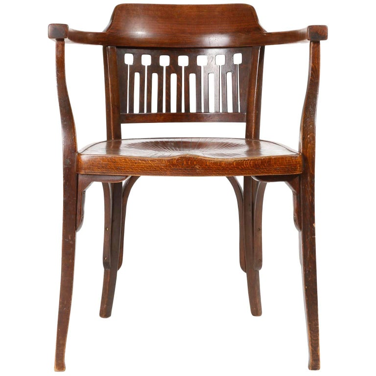 Otto Wagner Chair Armchair by J.&J. Kohn, Austria, Vienna Secession, circa 1900 For Sale