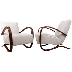 Pair of Halabala Chairs Model H269
