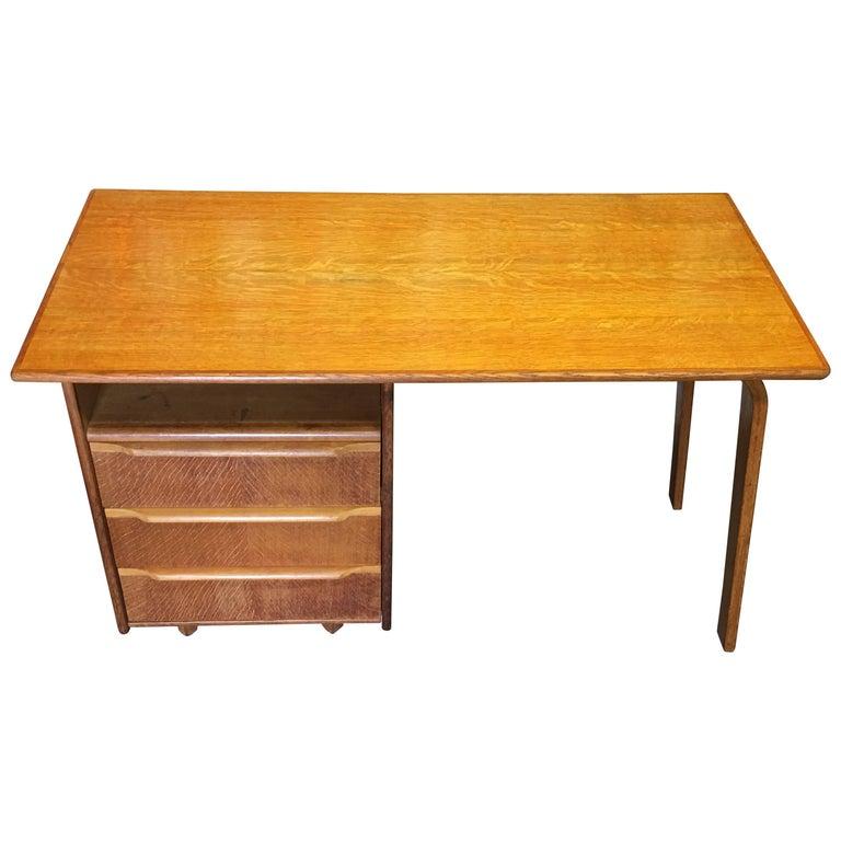 EE02 Oak Desk by Cees Braakman for Pastoe