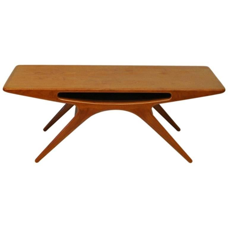"Teak Table ""Smiley"" or ""Smilet"" by Johannes Andersen 1950s, Silkeborg, Denmark"